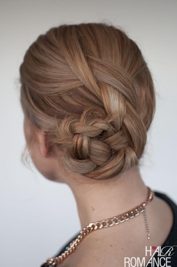 Braid Bun Hairstyles  Easy braided bun hairstyle tutorial Hair Romance