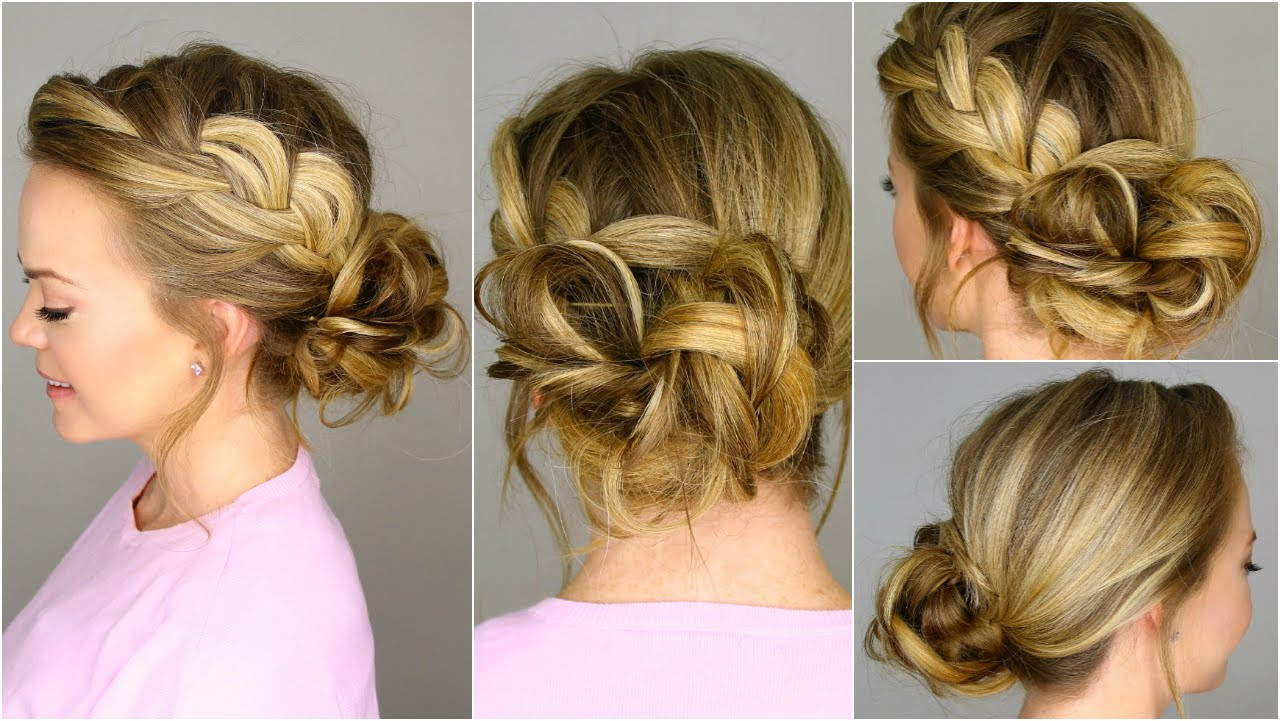 Braid Bun Hairstyles  Party Hairstyles and haircuts for Women Hairstyle For Women