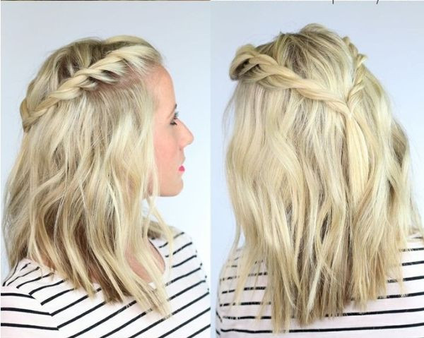 Braid Hairstyles For Shoulder Length Hair  Easy Braided Hairstyles Easy Hairstyles With Braids
