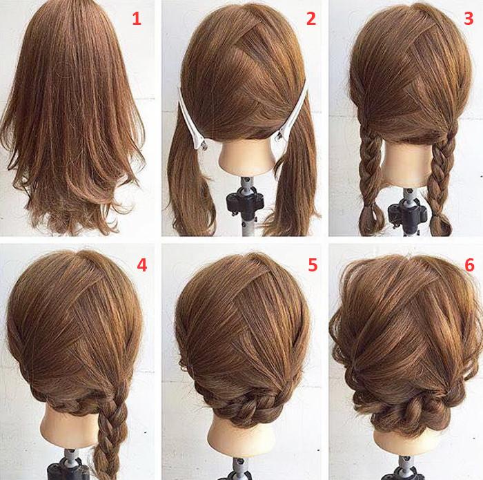 Braid Hairstyles For Shoulder Length Hair  Easy Step By Step Hairstyles For Medium Hair