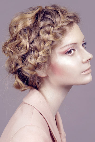 Braided Curls Hairstyle  StyleNoted
