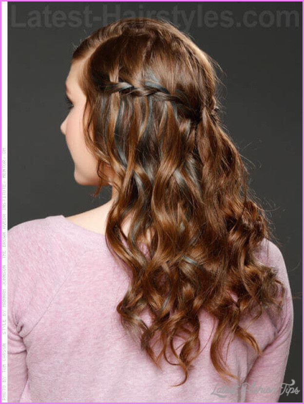 Braided Curls Hairstyle  Curly Hairstyles And Braids LatestFashionTips