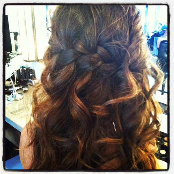 Braided Curls Hairstyle  Waterfall Braid With Curls My New Hair