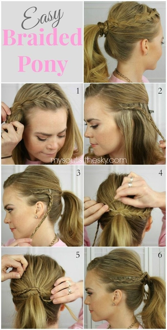 Best ideas about Braided Hairstyles For School . Save or Pin 14 Braided Ponytail Hairstyles New Ways to Style a Braid Now.