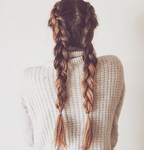 Braiding Hairstyles Tumblr  dutch braid on Tumblr