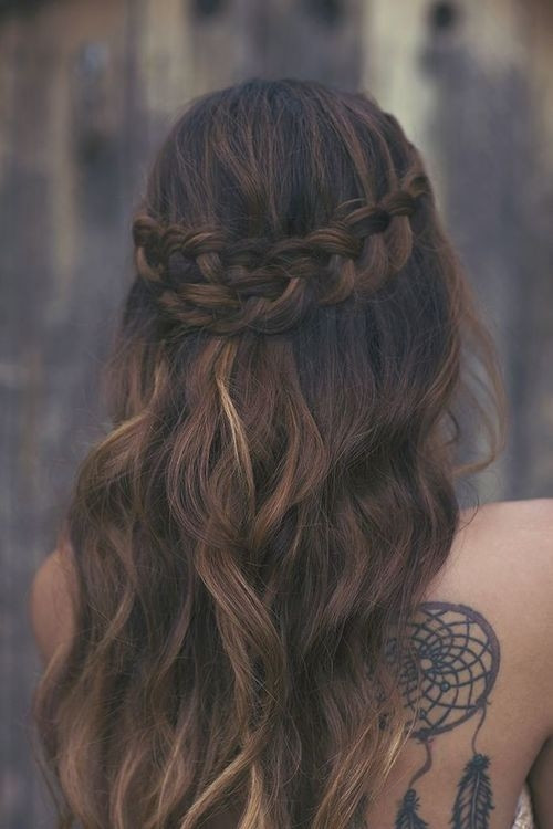 Braiding Hairstyles Tumblr  Long Wavy Hair And Braid s and for