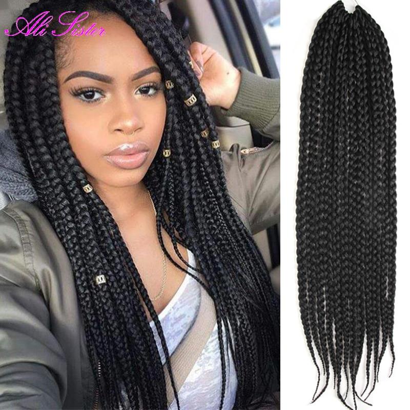 Braids Extension Hairstyles  3X box braids hair crochet braids hairstyles secret hair