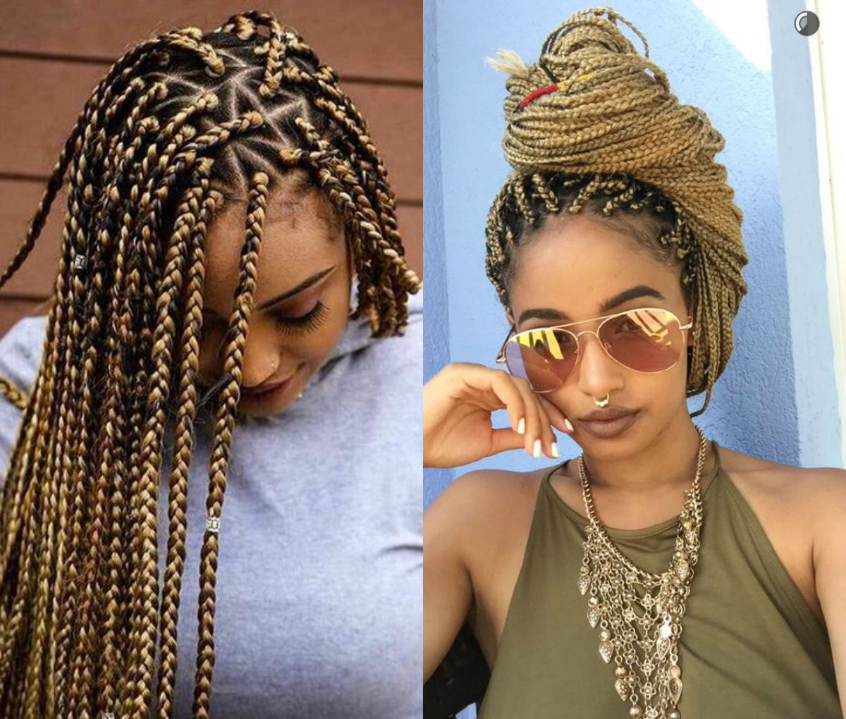 Braids Extension Hairstyles  Spectacular Long Box Braids Hairstyles 2017