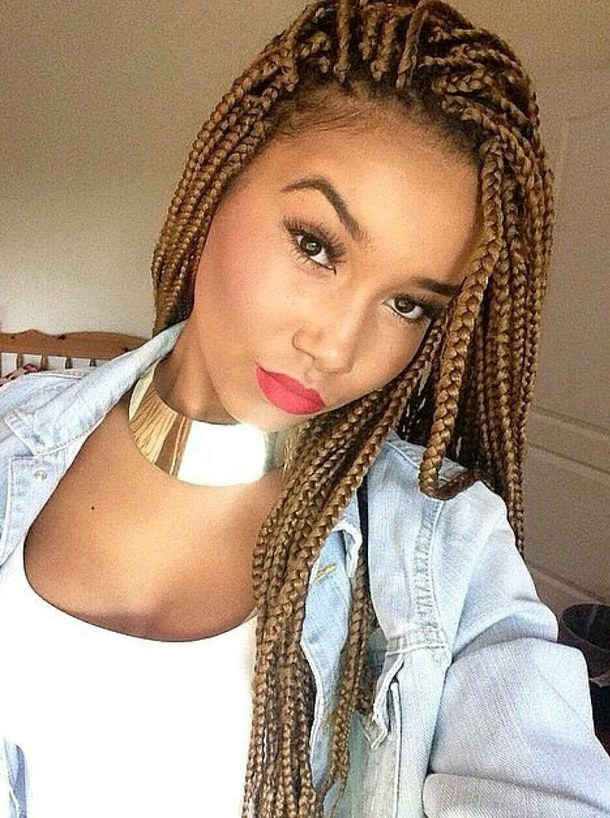 Braids Extension Hairstyles  Fabulous Long Box Braids Hairstyles