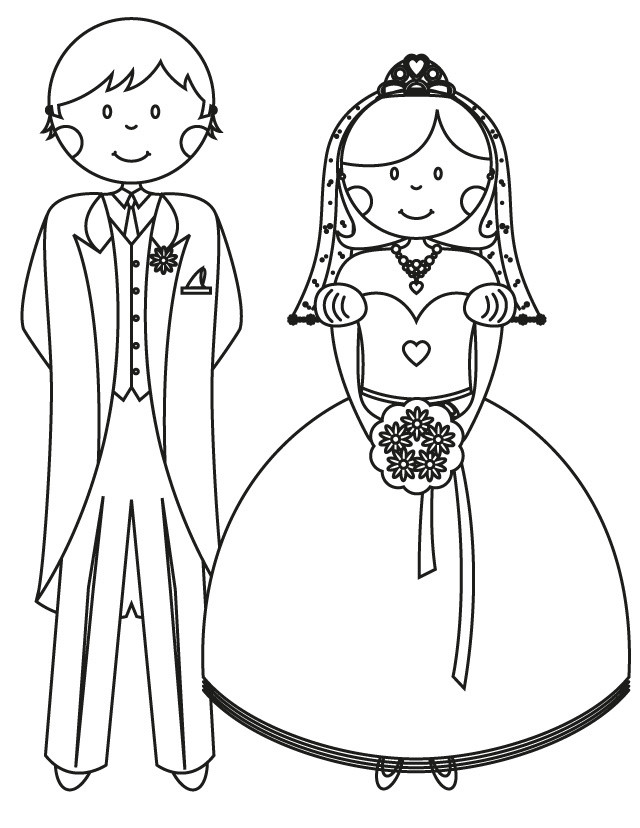 Bride Coloring Pages  17 wedding coloring pages for kids who love to dream about