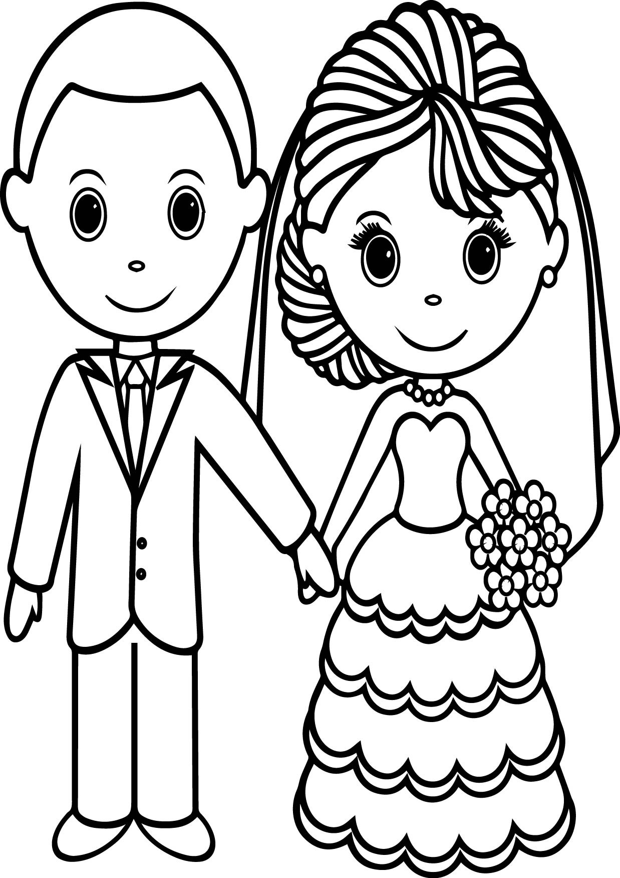 Bride Coloring Pages  Coloring Picture Wedding Cake Colouring Pages Wedding
