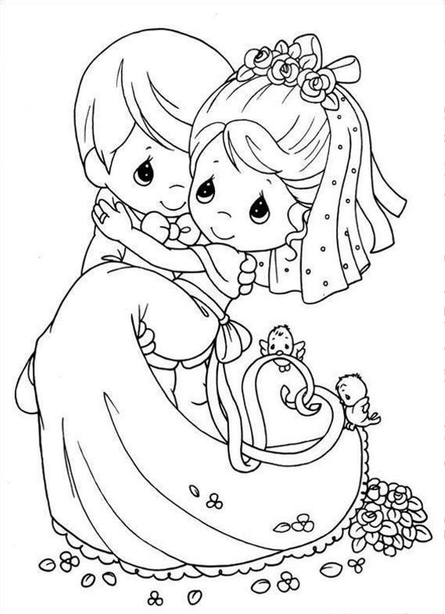 Bride Coloring Pages  Wedding Coloring Page Bestofcoloring