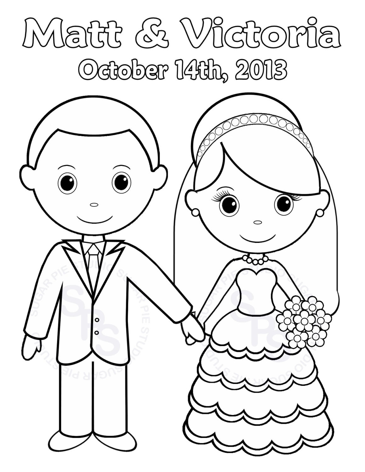 Bride Coloring Pages  Wedding Cartoon Drawing at GetDrawings