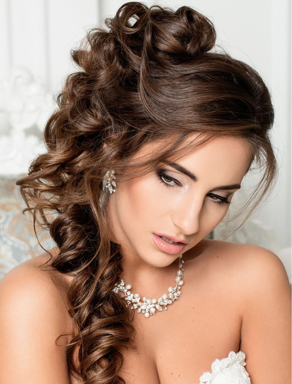 Bridesmaid Hairstyle  Very Stylish Wedding Hairstyles for Long Hair 2018 2019