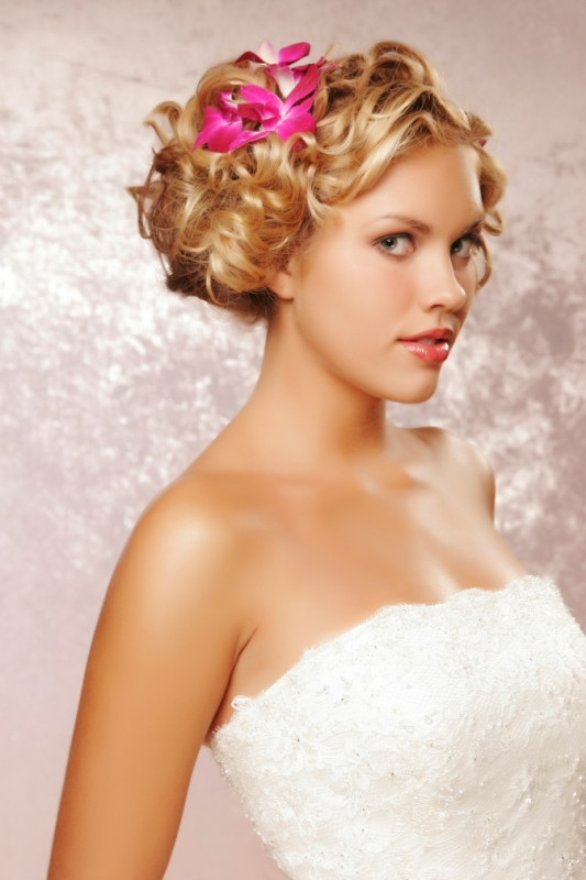 Bridesmaid Hairstyle  Cute Medium Bridesmaid Hairstyles