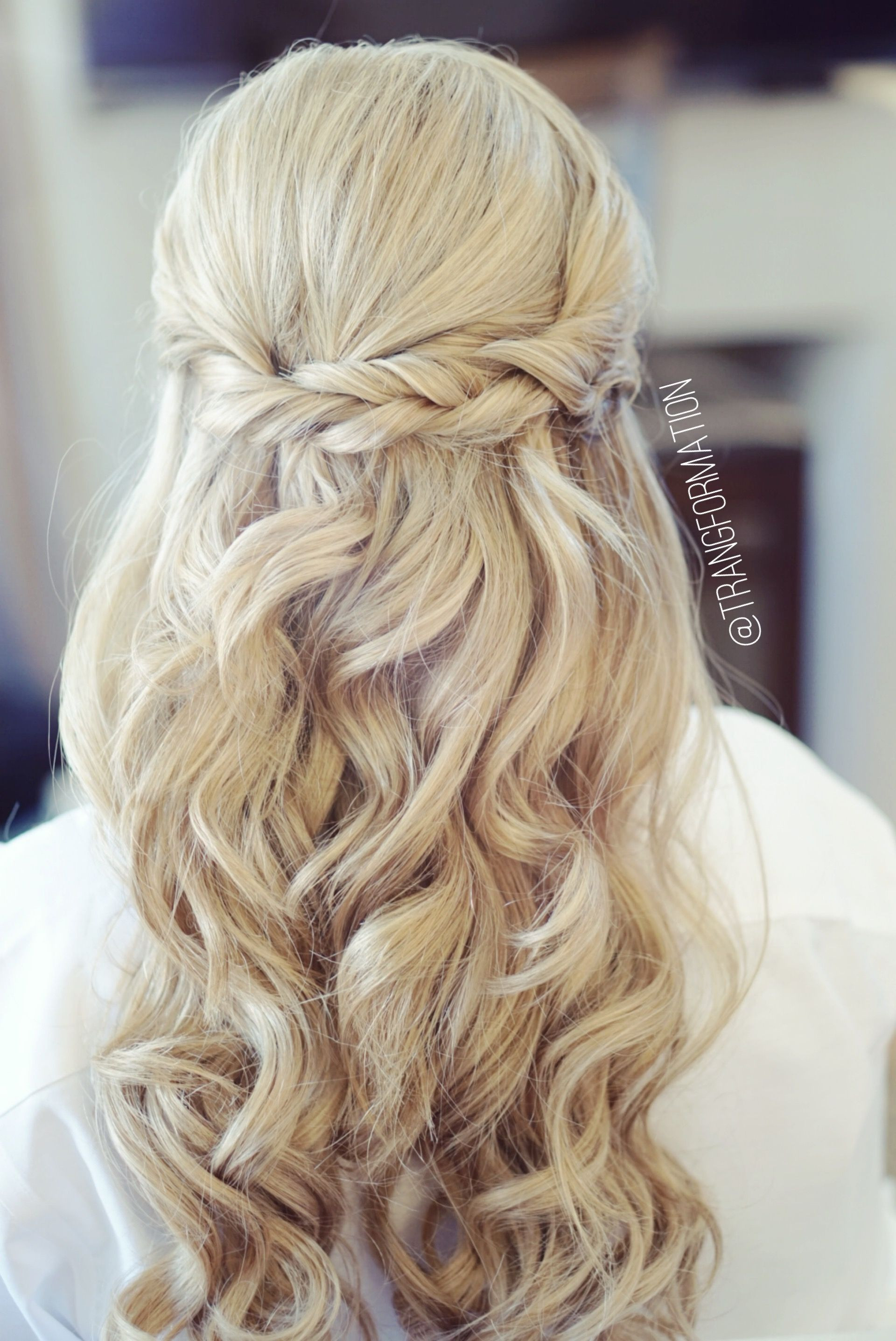 Bridesmaid Hairstyles Down  Half up half down bridal hair wedding hair bride