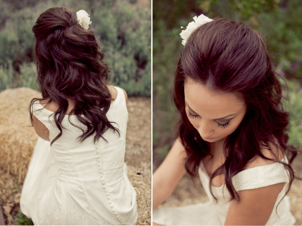 Bridesmaid Hairstyles Down  Half up Half down Wedding Hairstyle Ideas for Short Hair