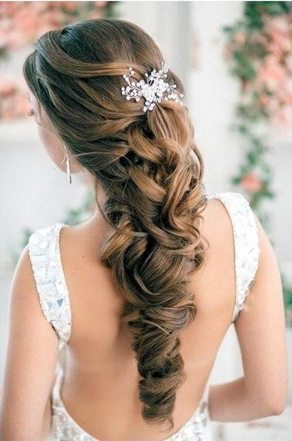 Bridesmaid Hairstyles Down  Elegant Wedding Hairstyles Half Up Half Down