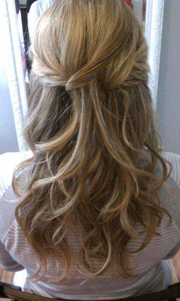 Bridesmaid Hairstyles Half Up  Half up Hair