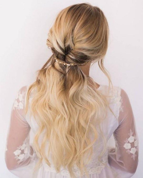 Bridesmaid Hairstyles Half Up  40 Stunning Half Up Half Down Wedding Hairstyles with