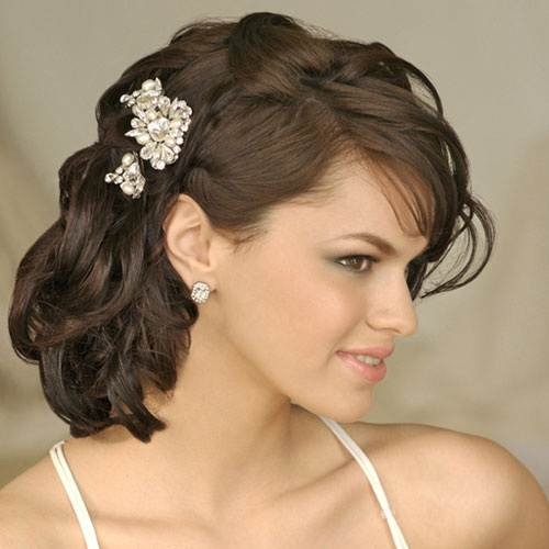 Bridesmaid Side Hairstyles  Wedding Hairstyles Side Swept 2013