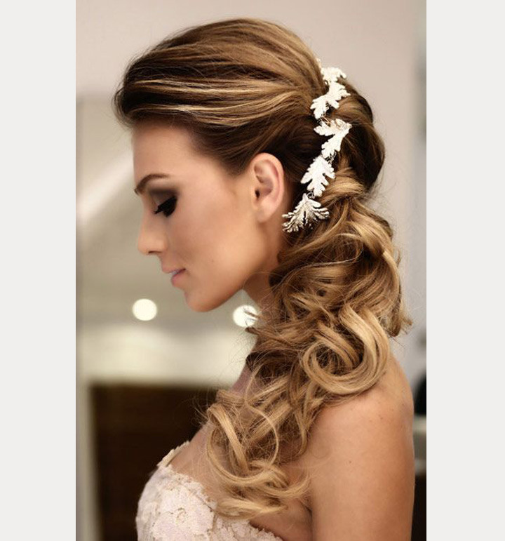 Bridesmaid Side Hairstyles  Side Swept Wedding Hairstyles To Inspire Mon Cheri Bridals