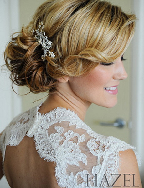 Bridesmaid Side Hairstyles  Side swept wedding hair