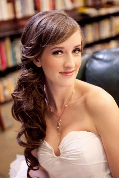 Bridesmaid Side Hairstyles  Elegant Side Ponytail Hairstyle for Wedding fmag