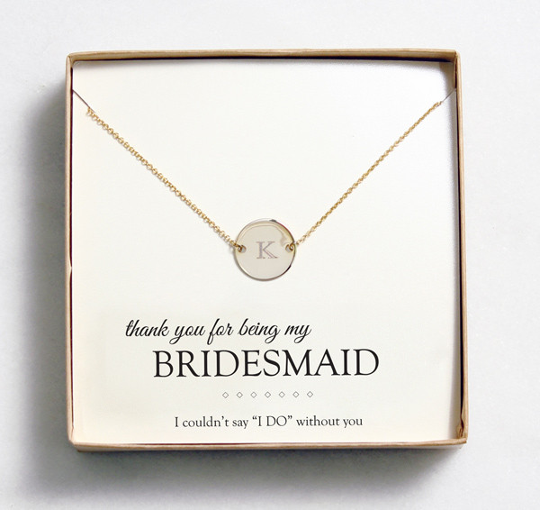 Bridesmaid Thank You Gift Ideas  Bridesmaid Gift Idea Customizable Jewelry from Wedding