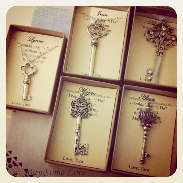 Bridesmaid Thank You Gift Ideas  Skeleton Key Bridesmaids Thank You Gifts Ask Bridal Party