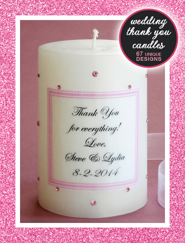 Bridesmaid Thank You Gift Ideas  Bridesmaid Candles and Thank You Candles for Wedding Gifts