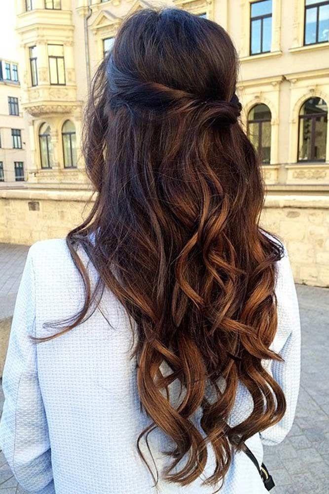 Bridesmaids Hairstyles Down  30 Chic Half Up Half Down Bridesmaid Hairstyles