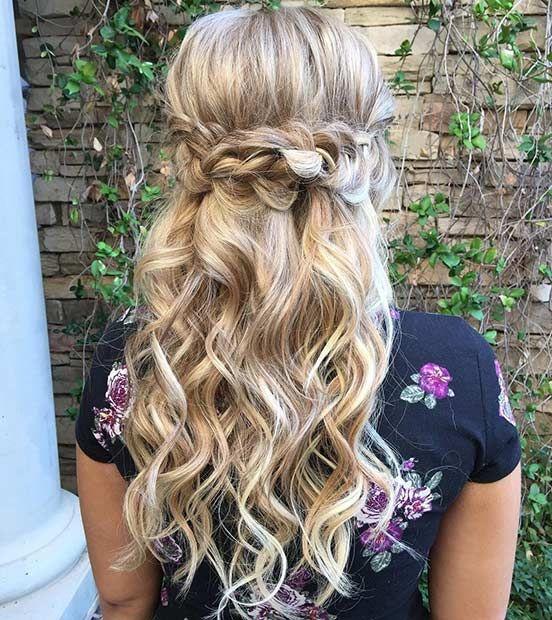 Bridesmaids Hairstyles Down  31 Half Up Half Down Hairstyles for Bridesmaids