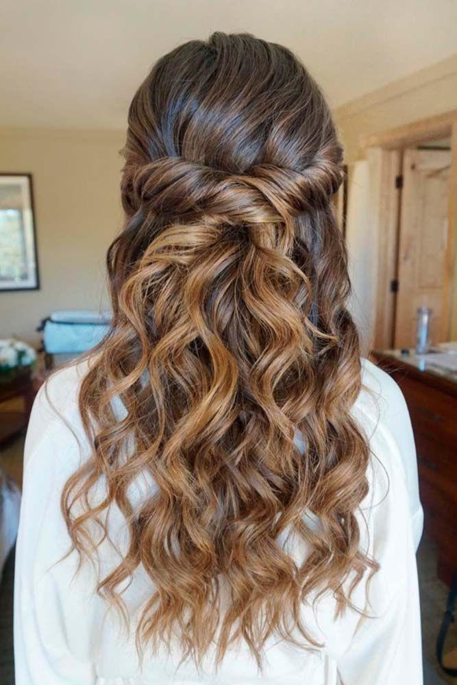 Bridesmaids Hairstyles Half Up  30 Chic Half Up Half Down Bridesmaid Hairstyles
