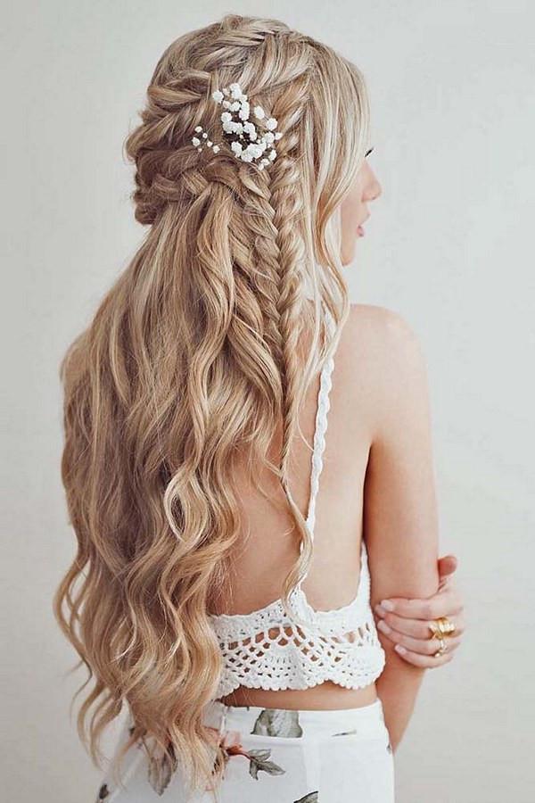 Bridesmaids Hairstyles Half Up  40 Stunning Half Up Half Down Wedding Hairstyles with