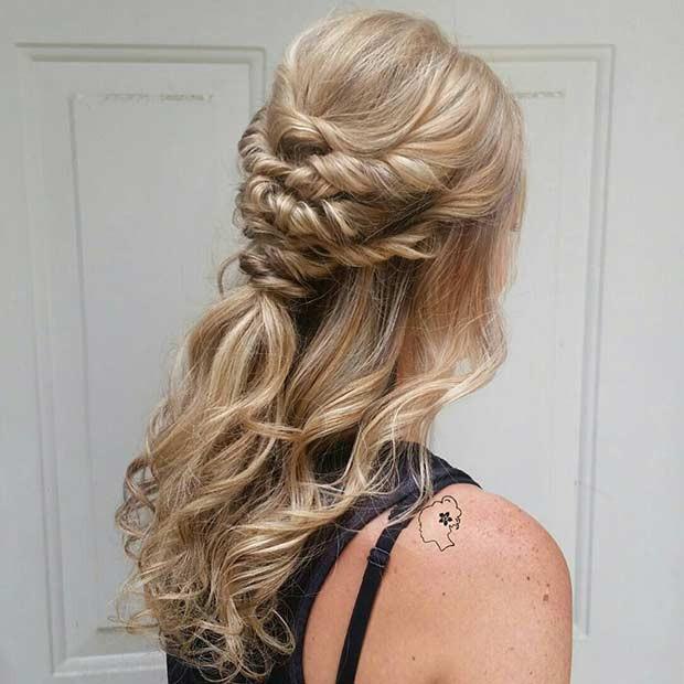 Bridesmaids Hairstyles Half Up  31 Half Up Half Down Hairstyles for Bridesmaids