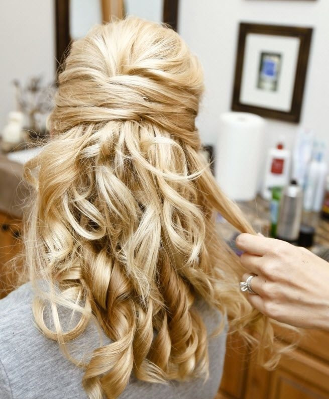 Bridesmaids Hairstyles Half Up  30 Hottest Bridesmaid Hairstyles For Long Hair PoPular