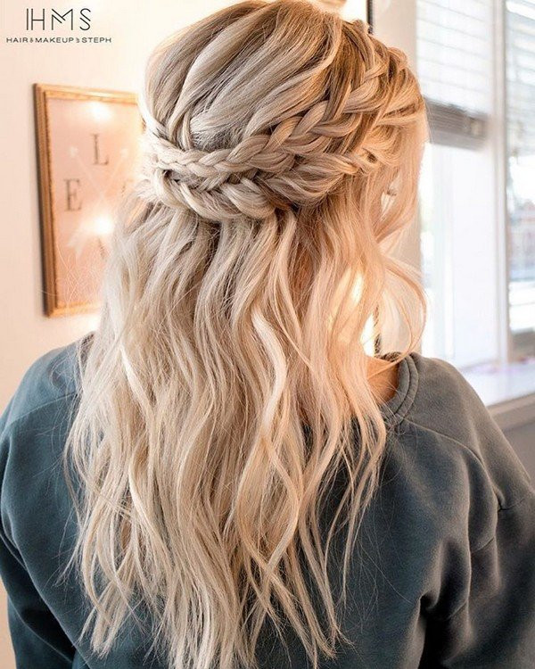 Bridesmaids Hairstyles Half Up  20 Inspiring Wedding Hairstyles from Steph on Instagram