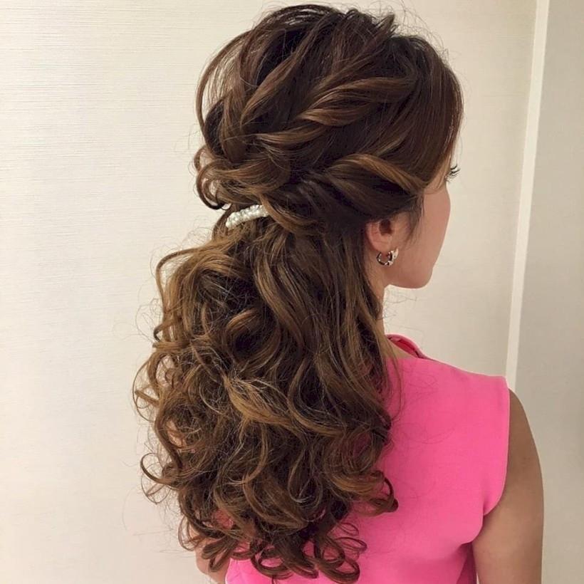 Bridesmaids Hairstyles Up  48 Beautiful Bridesmaid Hairstyles Half Up Ideas VIs Wed