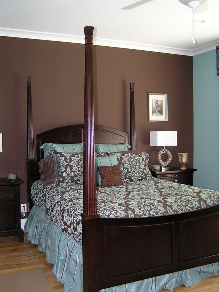 Best ideas about Brown Accent Walls . Save or Pin Bedroom Decorating Ideas In Blue And Brown HOME DELIGHTFUL Now.