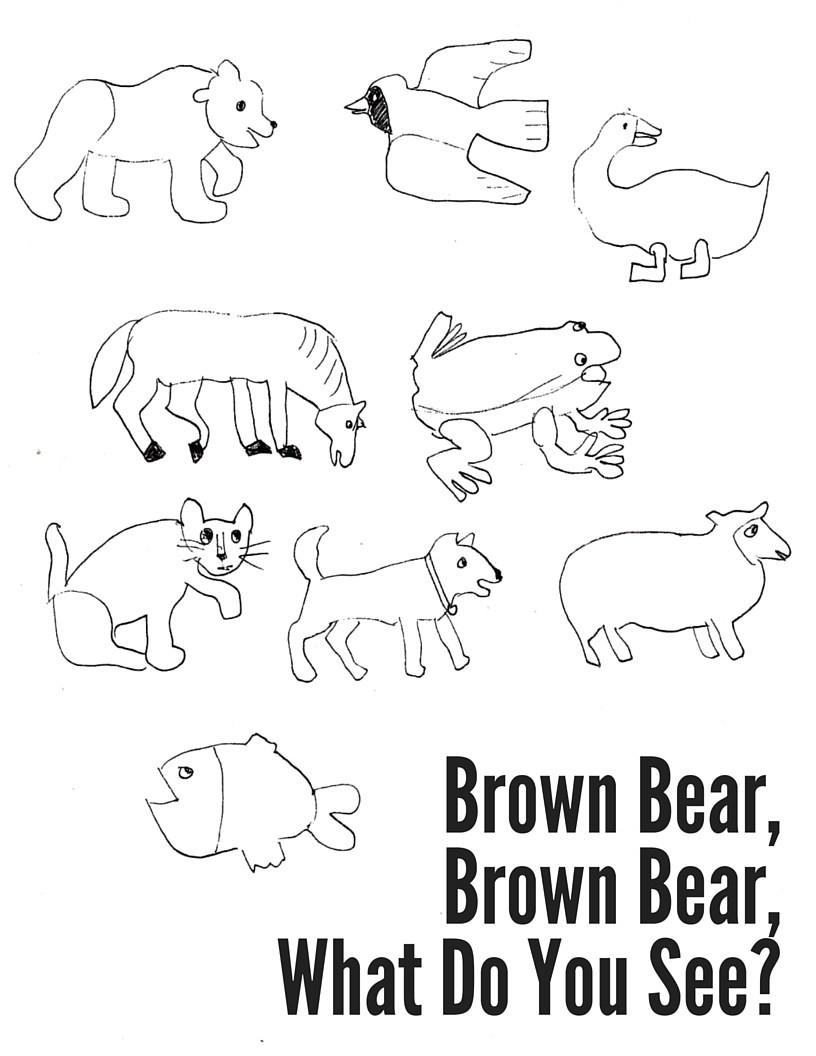 Brown Bear Brown Bear Coloring Pages  Brown Bear Brown Bear What Do You See Coloring Pages