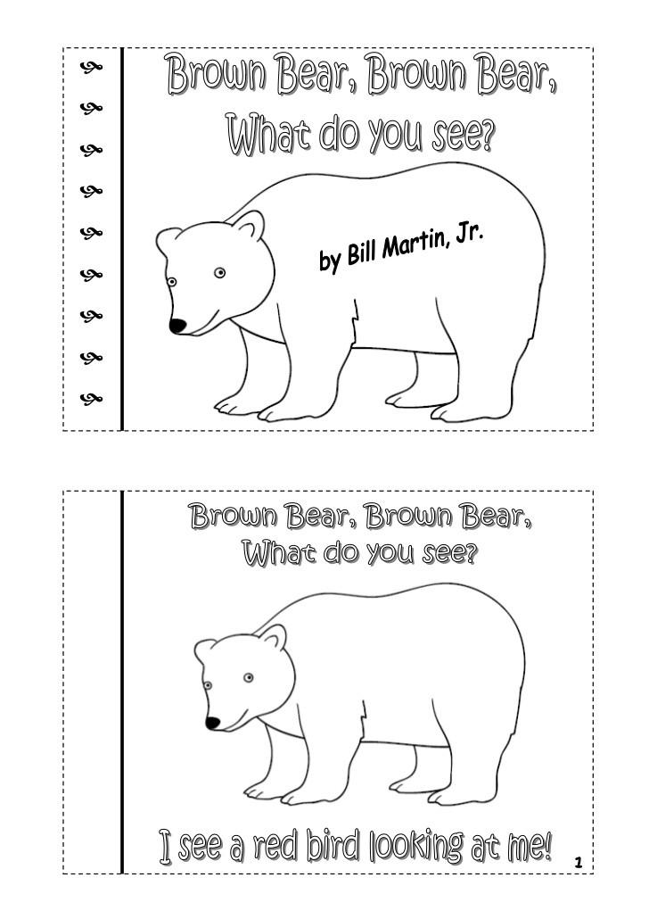 Brown Bear Brown Bear Coloring Pages  6 Best of Printable Brown Bear Story Brown Bear