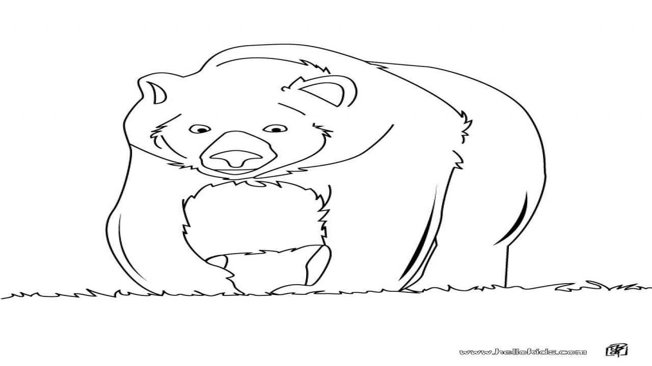 Brown Bear Brown Bear Coloring Pages  Brown Bear Coloring Big Pages Hellokids grig3