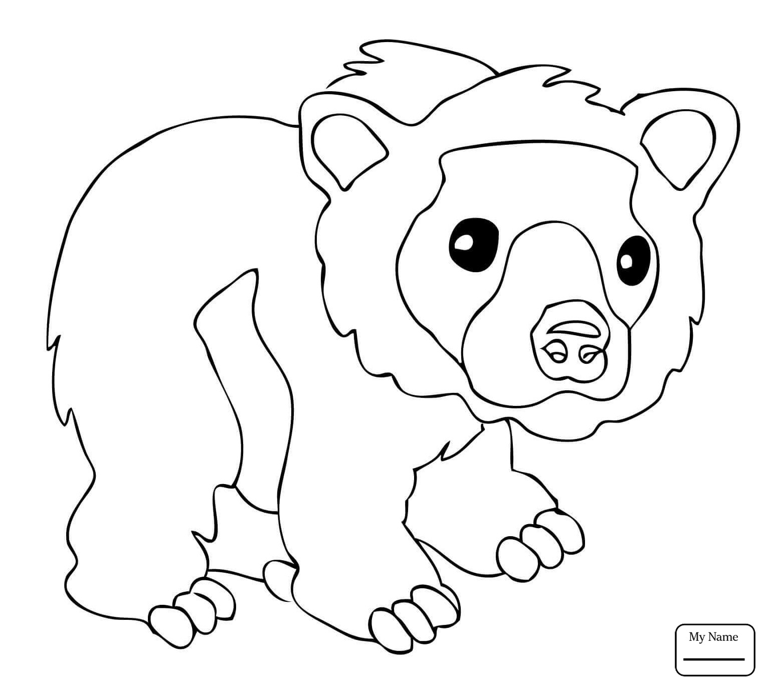 Brown Bear Brown Bear Coloring Pages  Brown Bear Coloring Pages to Print