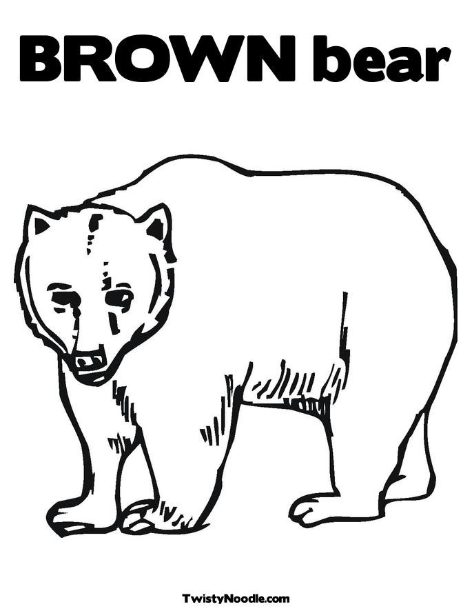 Brown Bear Brown Bear Coloring Pages  Best s of Brown Bear Template Polar Bear Template