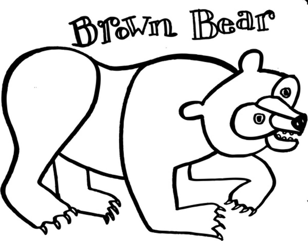 Brown Bear Brown Bear Coloring Pages  Drawing Brown Bear Coloring Pages coloringsuite