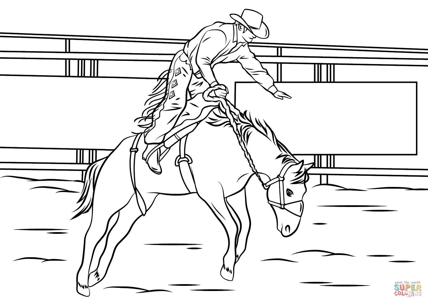 Bull Riding Coloring Pages  Bull Riding Coloring Pages to Print