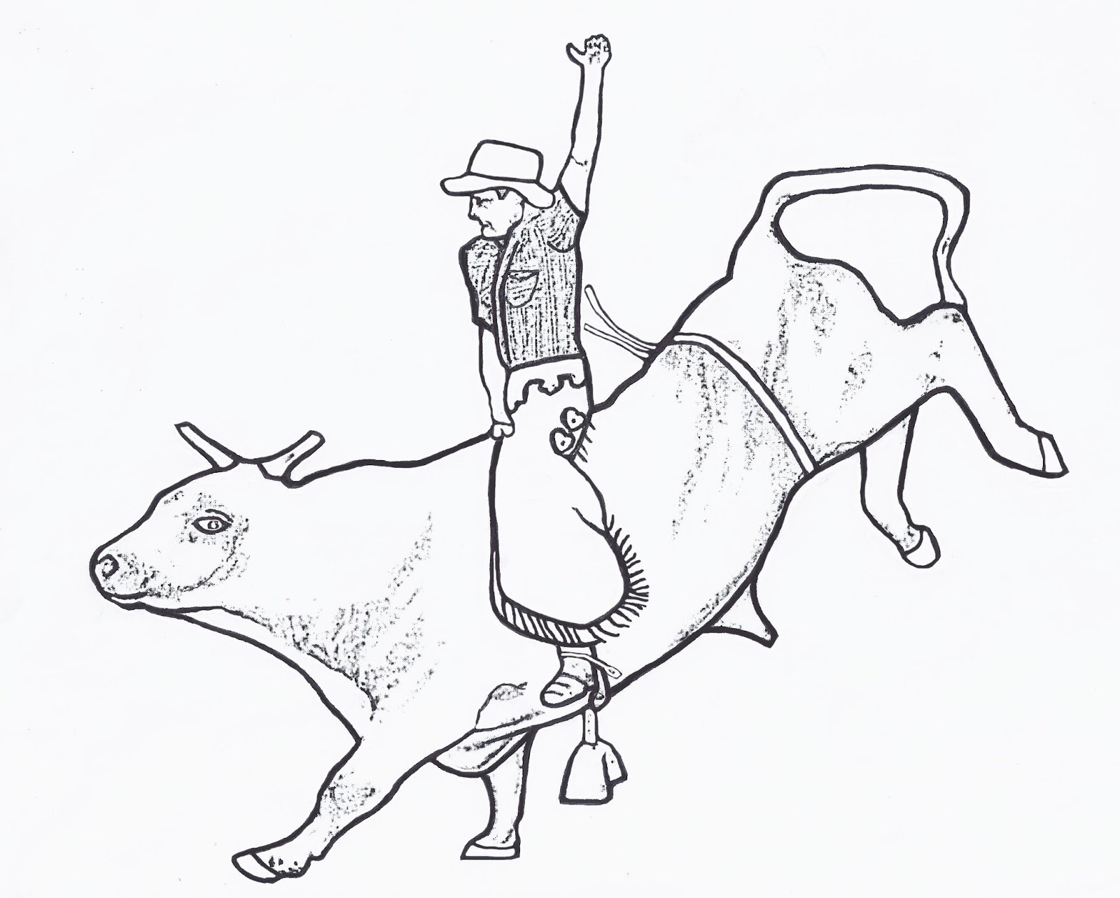Bull Riding Coloring Pages  RODEO COLORING PAGES Bull Rider Color Page By Dancing