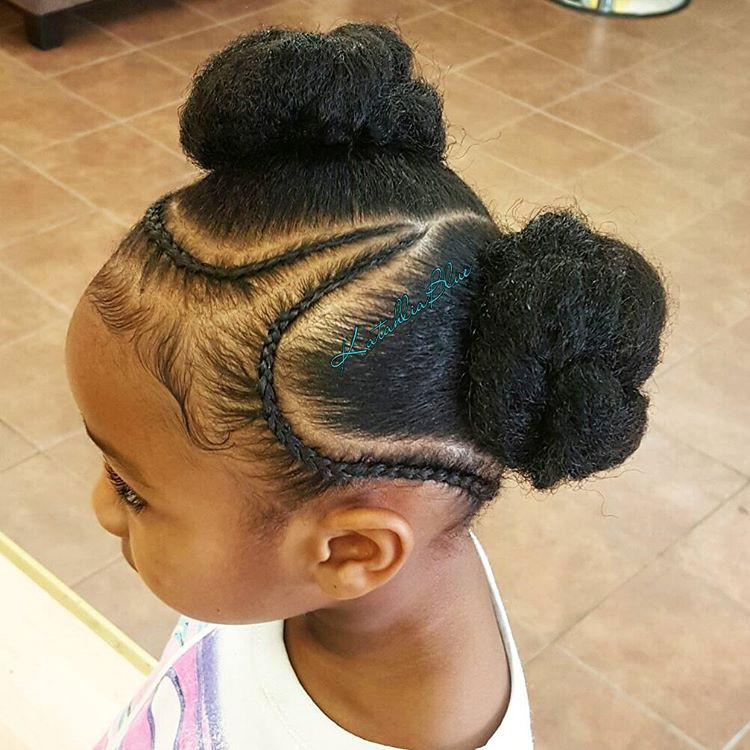 Best ideas about Bun Hairstyles For Kids . Save or Pin 13 Natural Hairstyles for Kids With Long or Short Hair Now.