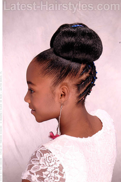 Best ideas about Bun Hairstyles For Kids . Save or Pin 15 Stinkin' Cute Black Kid Hairstyles You Can Do At Home Now.